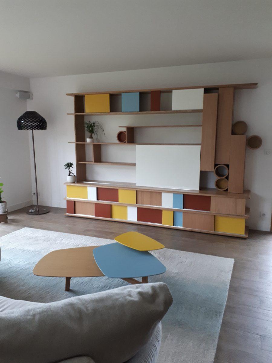 Meuble Sur Mesure Salon décoration d'un espace de vie, conception de meubles sur