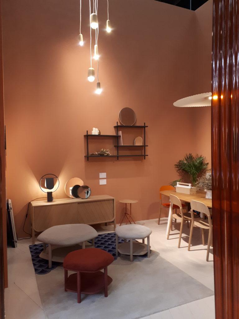 couleur orange rose décoration intérieure
