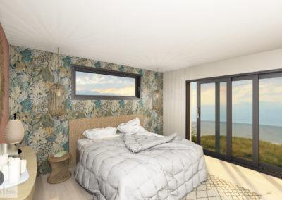 Chambre Vue 3D photo réalisme bord de mer