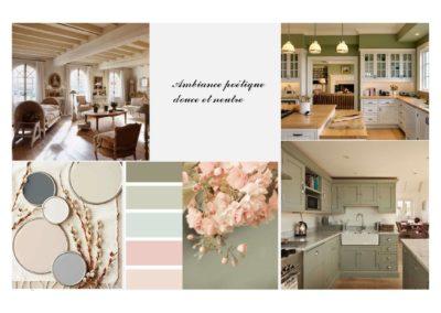 Décoration intérieure Planche tendance cuisine, espace de vie