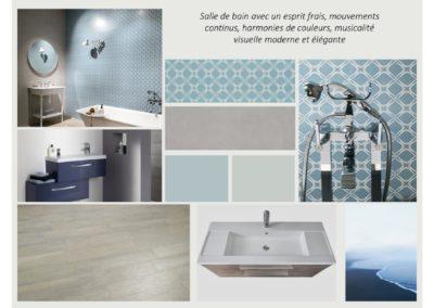 décoration intérieure Planche ambiance salle de bain, blue,