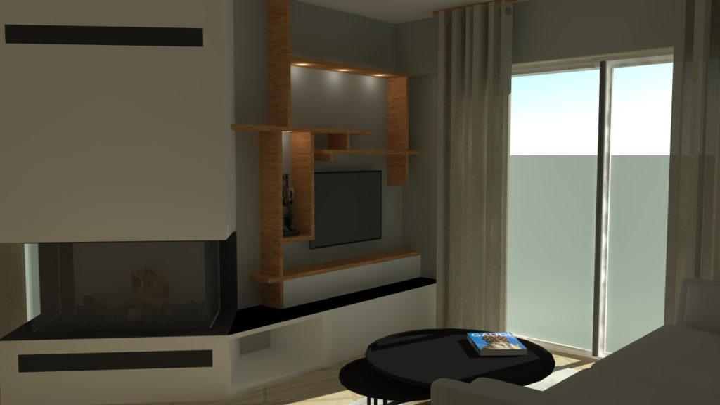 Vue 3D meuble sur mesure Saint Jean De Luz