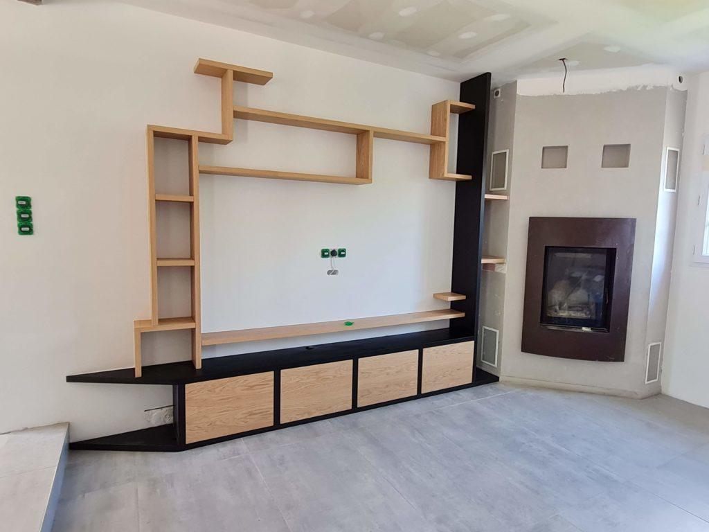 Réalisation meuble sur mesure Anhaux en cours